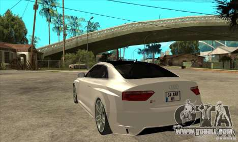 Audi S5 Quattro Tuning for GTA San Andreas back left view