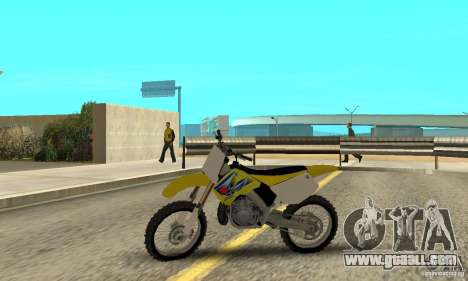 Suzuki RM250 for GTA San Andreas back left view
