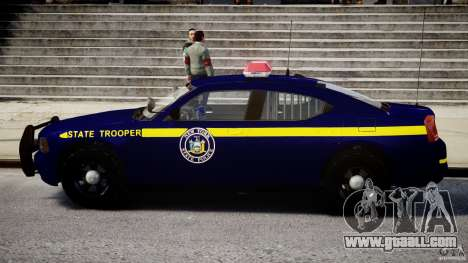 Dodge Charger New York State Trooper CHGR-V2.1M for GTA 4 back left view
