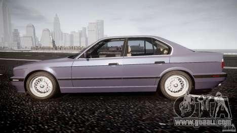 BMW 5 Series E34 540i 1994 v3.0 for GTA 4 left view