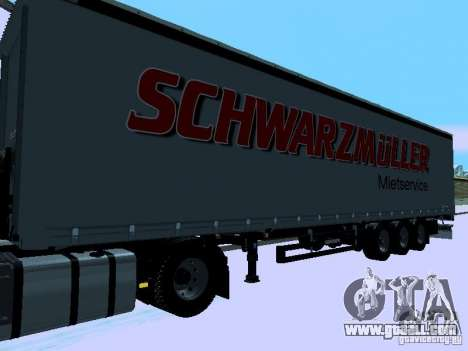 Trailer for Volvo FH13 for GTA San Andreas left view