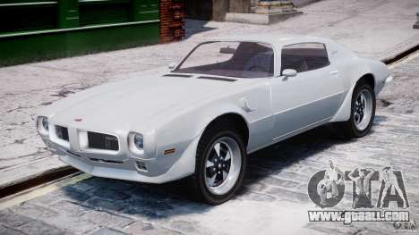 Pontiac Firebird Esprit 1971 for GTA 4 left view