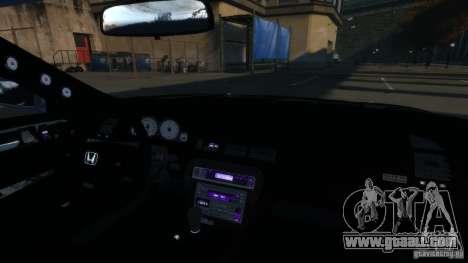 Honda Prelude SiR VERTICAL Lambo Door Kit Carbon for GTA 4 inner view