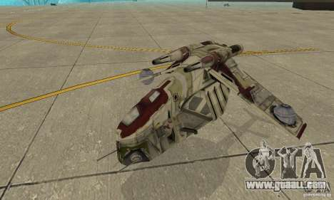 Republic Gunship from Star Wars for GTA San Andreas