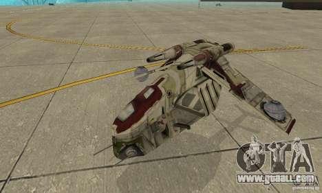Republic Gunship from Star Wars for GTA San Andreas