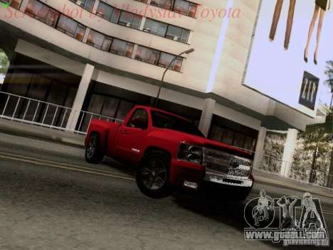 Chevrolet Cheyenne Single Cab for GTA San Andreas left view