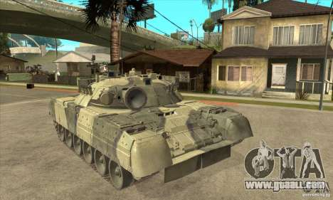 T-80U MBT for GTA San Andreas back view