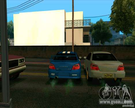 Subaru Impreza WRX STi Tunable for GTA San Andreas back view