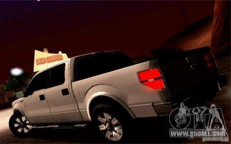 Ford Lobo 2012 for GTA San Andreas inner view