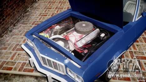 Ford Gran Torino 1975 for GTA 4 inner view