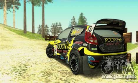 Ford Fiesta Rockstar Energy for GTA San Andreas left view