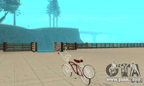 Low Rider Bike for GTA San Andreas back left view