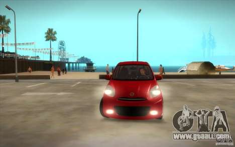 Nissan Micra 2011 for GTA San Andreas side view