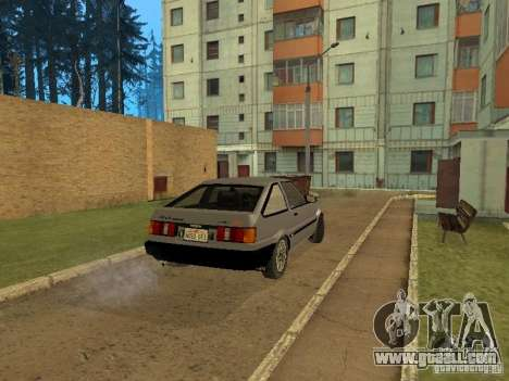 Toyota Corolla AE85 Levin GT-Apex for GTA San Andreas back view