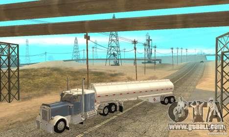 Peterbilt 379 Custom And Tanker Trailer for GTA San Andreas interior