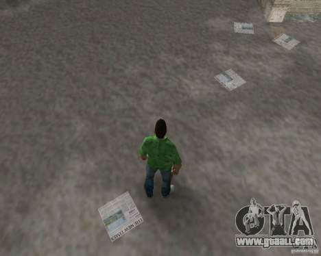 New water, newspapers, leaves, Moon for GTA Vice City eighth screenshot