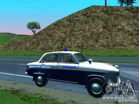 Moskvitch 403 with Police for GTA San Andreas upper view
