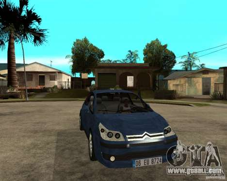 Citroen C4 SX 1.6 HDi for GTA San Andreas back view