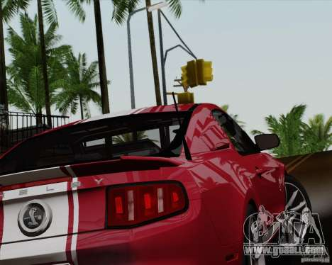 Ford Shelby GT500 Super Snake 2011 for GTA San Andreas left view