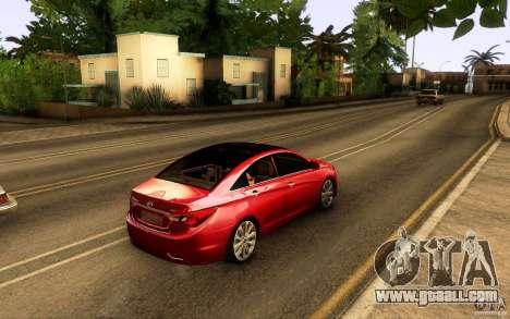 Hyundai Sonata 2011 for GTA San Andreas inner view