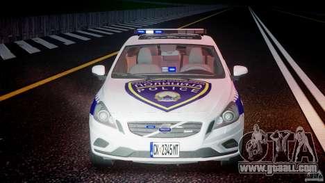 Volvo S60 Macedonian Police [ELS] for GTA 4 bottom view