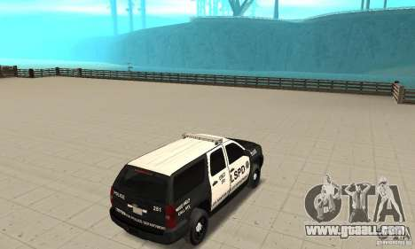 Chevrolet Suburban 2007 LSPD for GTA San Andreas