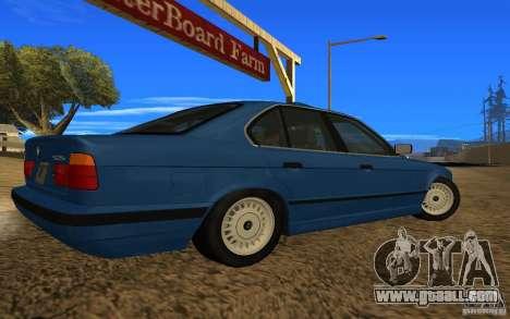 BMW 525 E34 V.3 for GTA San Andreas left view