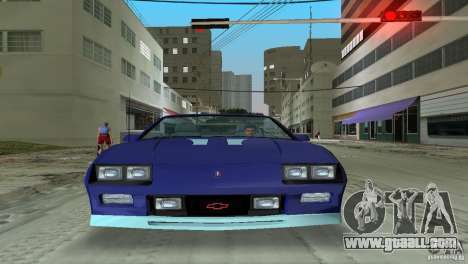 Chevrolet Camaro Convertible 1986 for GTA Vice City back left view