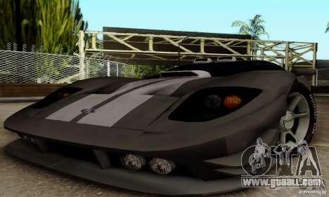 Ford GT Tuning for GTA San Andreas back view