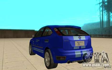 Ford Focus-Grip for GTA San Andreas back left view