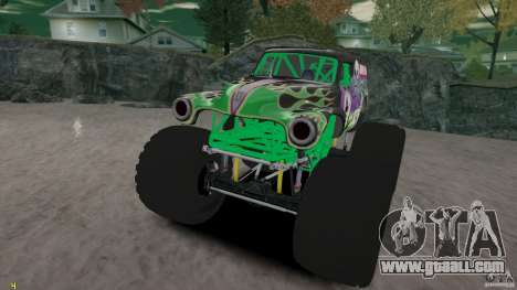 Grave digger for GTA 4 side view