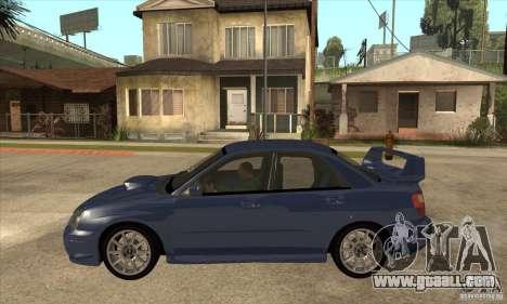 Subaru Impreza WRX STi - Stock for GTA San Andreas left view