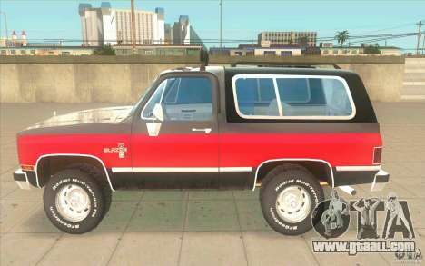 Chevrolet Blazer K5 Stock 1986 for GTA San Andreas left view