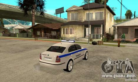 Skoda SuperB GEO Police for GTA San Andreas right view