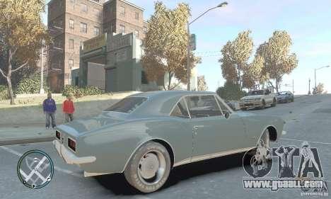 Chevrolet Camaro SS 1969 for GTA 4 left view