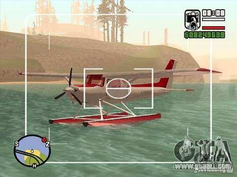 Cessna 152 water option for GTA San Andreas right view