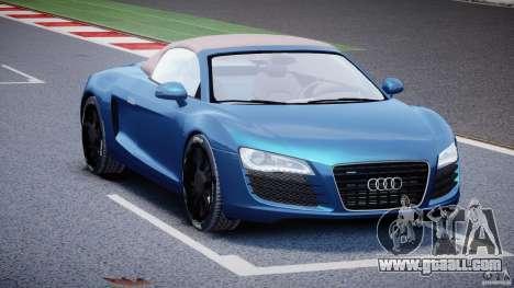 Audi R8 Spyder v2 2010 for GTA 4