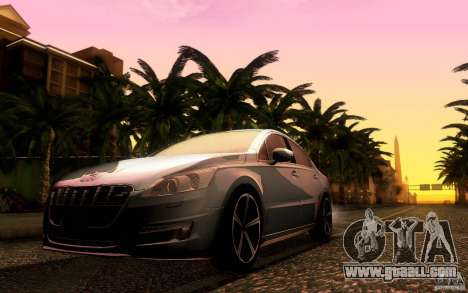 Peugeot 508 2011 for GTA San Andreas right view