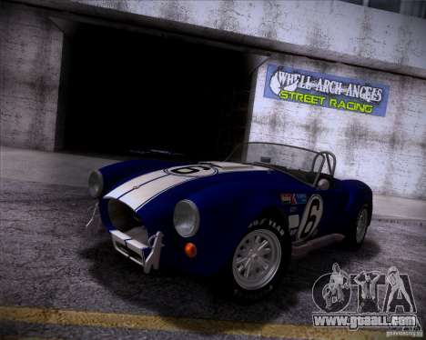 Shelby Cobra 427 Full Tunable for GTA San Andreas back left view