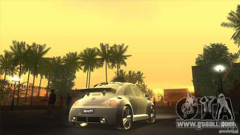 Volkswagen Beetle Tuning for GTA San Andreas inner view