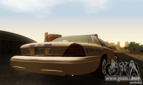 Ford Crown Victoria Rhode Island Police for GTA San Andreas left view