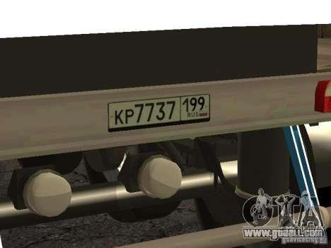Twelve-wheel semi-trailer-tipper TONAR 95231 for GTA San Andreas right view
