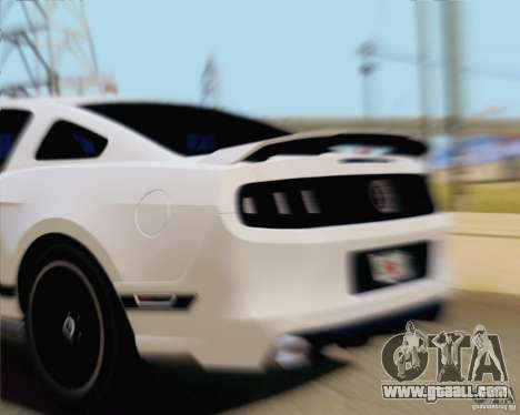 Ford Mustang Boss 302 2013 for GTA San Andreas back left view