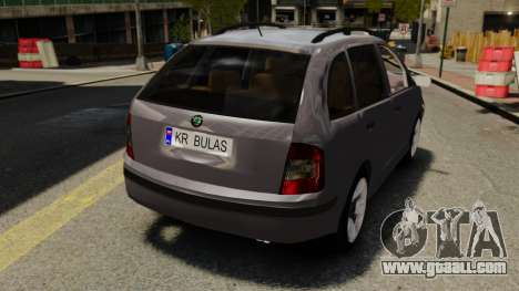 Skoda Fabia Combi for GTA 4 back view