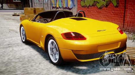 Ruf RK Spyder v0.8Beta for GTA 4 back left view