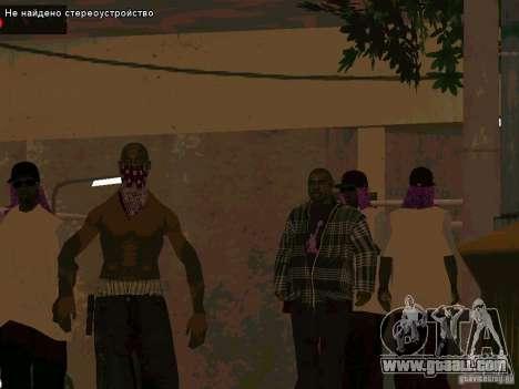 New Ballas East side Purpz for GTA San Andreas second screenshot