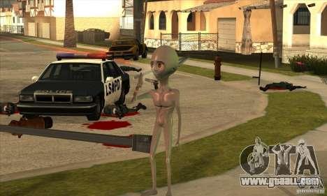 Alien for GTA San Andreas sixth screenshot
