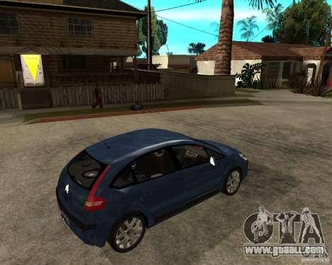 Citroen C4 SX 1.6 HDi for GTA San Andreas right view