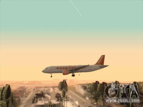 Airbus A320-214 EasyJet for GTA San Andreas side view