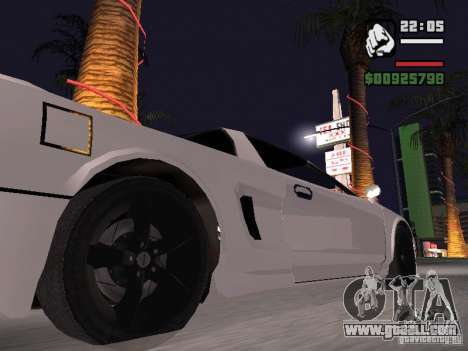 Infernus - beta - v.1 for GTA San Andreas back left view